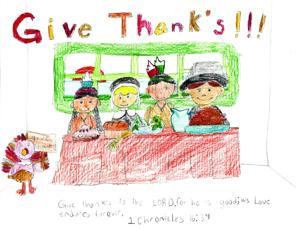 <p><strong>THIS UNSIGNED</strong> piece was created by a student in Missy Williams' class at Highland Elementary School in West Monroe. Students in her classes created artwork, and wrote essays and poetry about being thankful.</p>