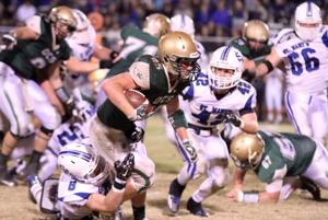 <p><span>OCS running back Josh Pennebaker (25) and the Eagles welcome Block for their season opener on Friday.</span></p>