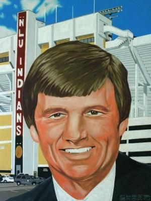 <p>PATCOLLINS was inducted as a member of the Louisiana Sports Hall of Fame in Natchitoches on Saturday. The artwork painted by artist Chris Brown will hang at the $23 million Louisiana Hall of Fame Museum, operated by the Louisiana State Museum system in partnership with the Louisiana Sports Writers Association.</p>