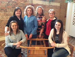 "<p>The cast for the upcoming Princess Theatre production of ""Steele Magnolias"" includes, from left, RaeAnne Guimbellot (Annelle), Tami Boyd (M'Lynn), Leigh Jonson (Ouiser), Jennifer Martin (Truvy), Janis McDonald (Clairee) and Rebekah Aultman (Shelby). The play is set to run March 19-23.</p>"
