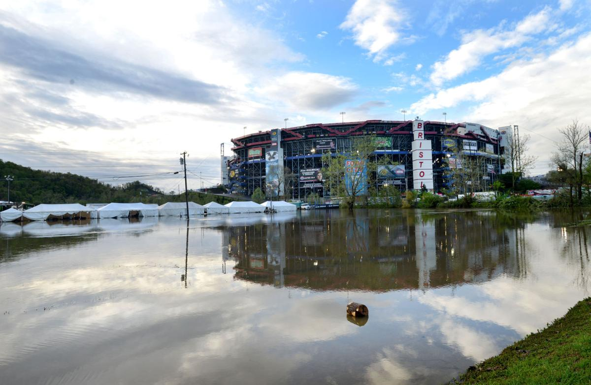 Weekend rains flood area roads bms grounds news for Camping bristol motor speedway