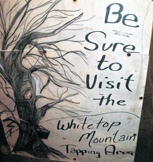 Hand-painted sign at Sugar House