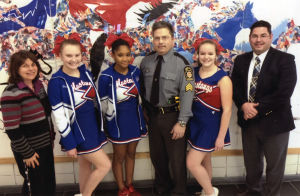 State police officer visits LH Middle School