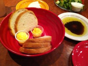 Pechin's Firehouse Restaurant - Bread, butter and oil with vinegar