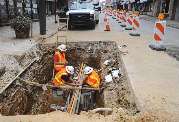 how to fix cut underground phone line
