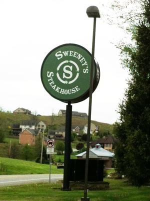 Sweeney's Steakhouse Sign