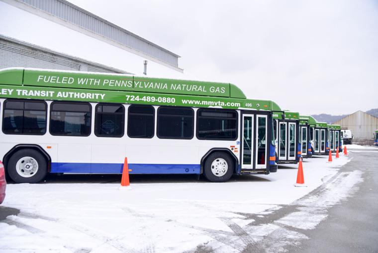 New Mid Mon Valley Transit buses run on Natural Gas