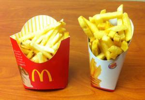 Medium Fries from McDonalds and Burger King