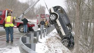 Single-vehicle accident in Franklin Township
