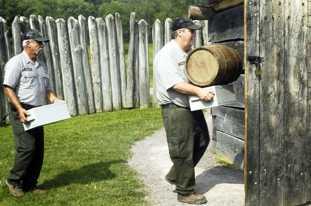 Restocking the storehouse at Fort Necessity
