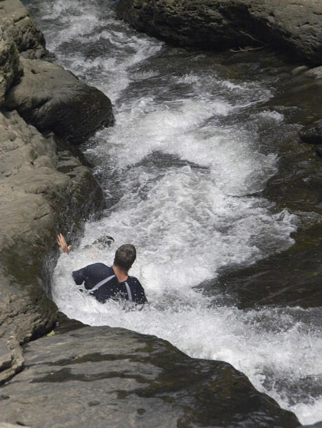 Natural slides at Ohiopyle State Park