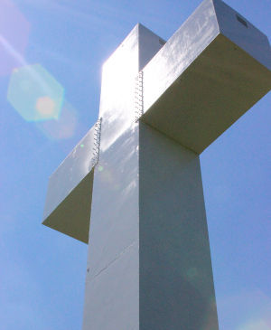 Two coats of white comes with $50,000 price tag for Jumonville cross