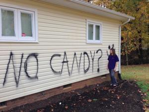 Vandals strike on Halloween