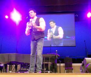 Erik Estrada on stage in Conover