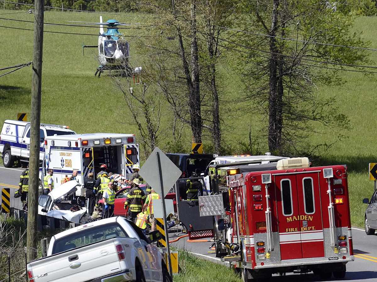 Head on collision totals vehicles sends 2 to hospitals for Roberts motors hickory nc