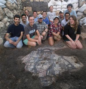 Samson mosaic unearthed