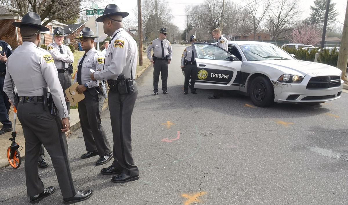 Highway patrol trooper brings high speed chase to a stop for Roberts motors hickory nc