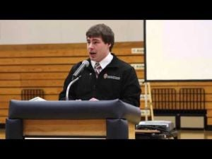 Drew Birrenkott Day - Rhodes Scholar Recognition - video 4 (Birrenkott's speech)