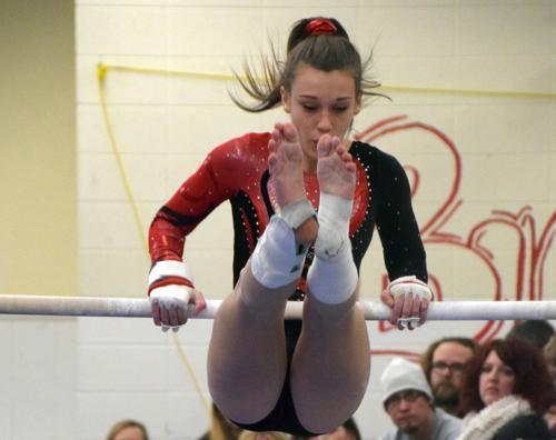 Gymnastics: MHS puts up best against the best