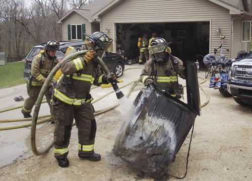 Extinguishing dryer fire