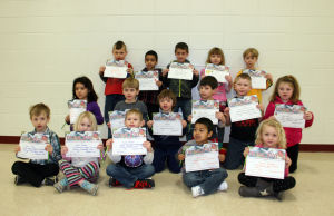 Waterloo Elementary February Principal Award recipients