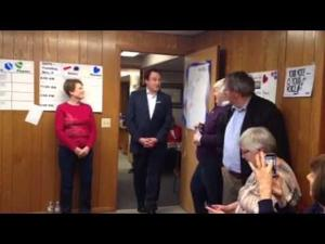 Bradley Whitford visits Sun Prairie Mary Burke office -- 10-28-2014
