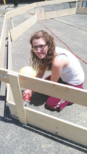 Deerfield  student helps build