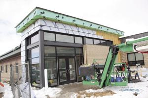 Construction progresses on police station annex