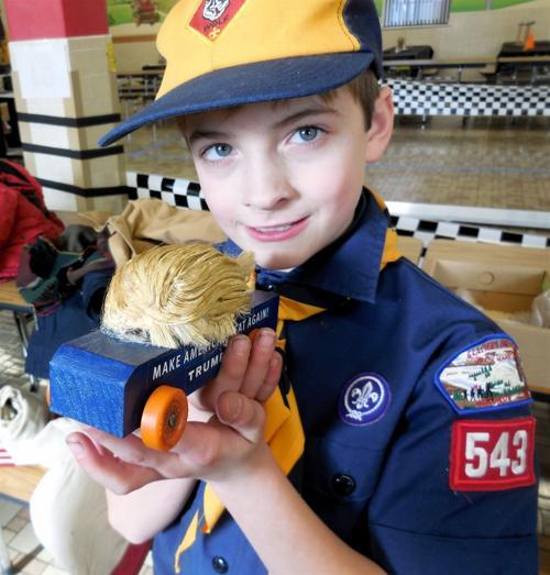Sacred Hearts School student wins award with 'Trump Car'