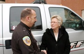 Sheriff Dave Mahoney and Wisconsin Supreme Court Justice Ann Walsh Bradley