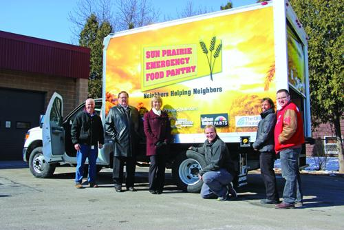 Sun Prairie Emergency Food Pantry truck donors thanked