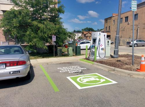 EV charging station now open behind Market Street Diner