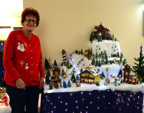 Sun Prairie woman puts Christmas village on display