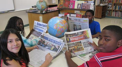 Go Global Club shares culture with school
