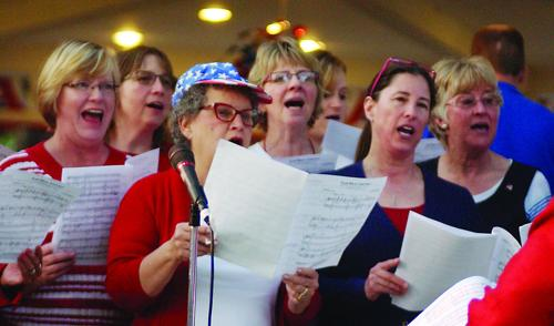 Community Choir at Patriotic performance
