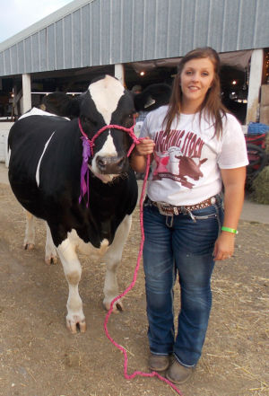 Dodge County Fair champion animal