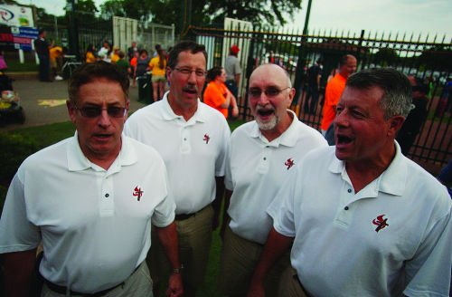 Faithful Men sing at Warner Park