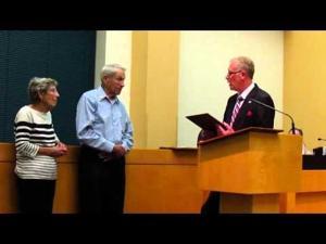 Sun Prairie City Council -- Bill Wambach receives James J. Reininger Award -- 11-3-2015