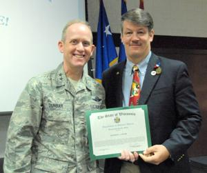Unger receives Meritorious Service Medal