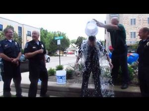 Sun Prairie Police Department Command Staff takes the ALS Ice Bucket Challenge -- 8-19-2014