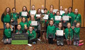 Center Stage Dance Academy's Excel team