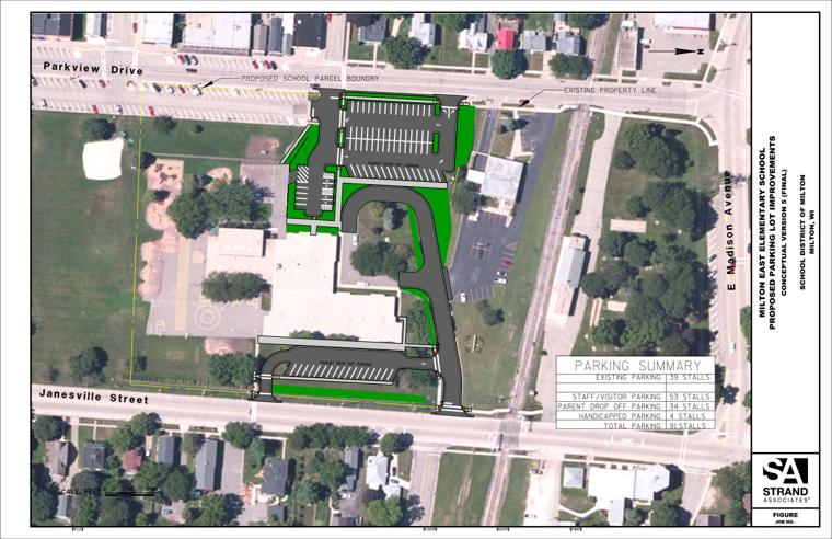 City Approves Plans For East Elementary Parking Milton