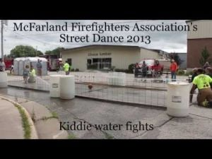 McFarland Firefighters Association's Street Dance 2013 - kiddie water fights