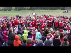 Members of UW band perform at WIS