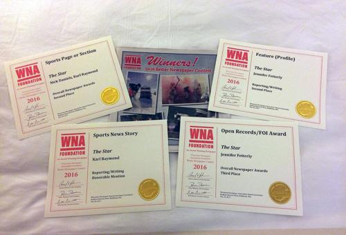 The Star earns 4 WNA Better Newspaper Contest awards