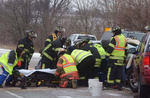 Fire and EMS respond to numerous crashes