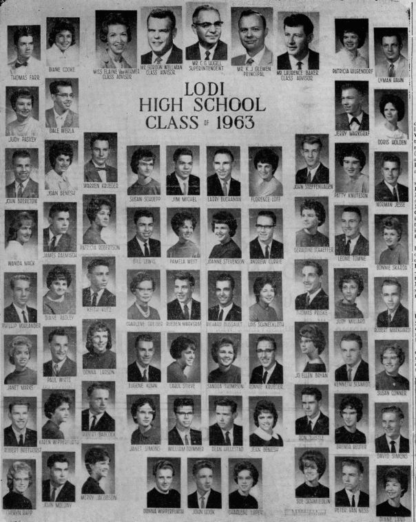 Lodi High School Class Of 1963 The Lodi Enterprise Heritage