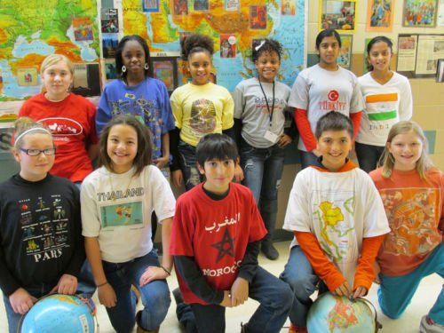 Patrick Marsh students, staff celebrate Geography Awareness Day