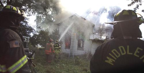 Vacant house fire on Oncken Road