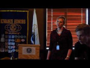 Nicole Meadowcroft at Madison East Kiwanis -- 11-9-2016